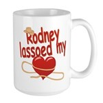 Rodney Lassoed My Heart Large Mug