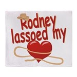 Rodney Lassoed My Heart Throw Blanket