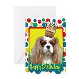 Birthday Cupcake - Cavalier Greeting Card