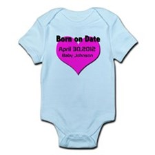 Born on Date Maturnity Infant Bodysuit