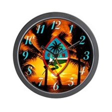 Cute Guam Wall Clock