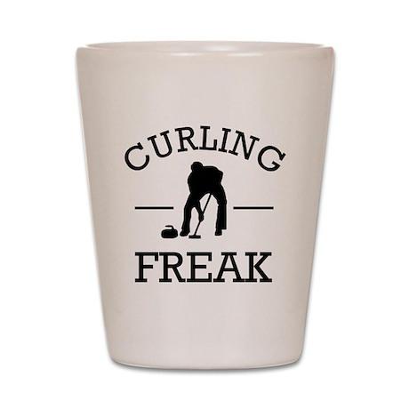 Curling Freak Shot Glass