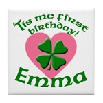 Emma Personalized Tile Coaster