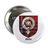 Miller Clan Crest Tartan 2.25&quot; Button (10 pack)