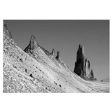 New Mexico, Shiprock Peak, View of a landscape
