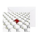 Christmas Bulb Crowd, Greeting Card