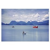Alaska, Wrangell, View of boats on water