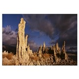 California, Mono Lake, Panoramic view of Tufa Form