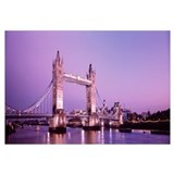 England, London, Tower Bridge, evening