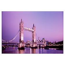 England, London, Tower Bridge, evening