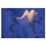 Nepal, Central Nepal, Gangapurna, View of snow cov