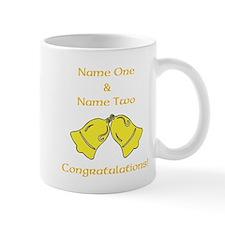 Wedding Bells. Custom Text. Mug