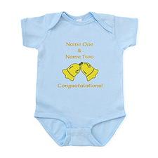 Wedding Bells. Custom Text. Infant Bodysuit