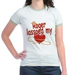 Roger Lassoed My Heart Jr. Ringer T-Shirt