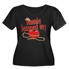 Ronnie Lassoed My Heart Women's Plus Size Scoop Ne