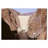 High angle view of a dam, Hoover Dam, Clark County