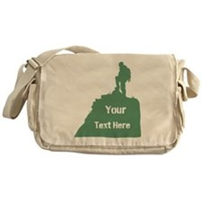 Hiking Climbing. Custom Text. Messenger Bag