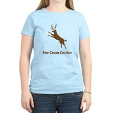 Brown Deer Stag. Custom Text. T-Shirt