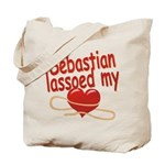 Sebastian Lassoed My Heart Tote Bag