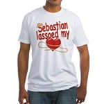 Sebastian Lassoed My Heart Fitted T-Shirt