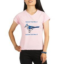 Blue Jay Bird. Custom Text. Performance Dry T-Shir