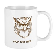 Owl. Custom Text. Mug
