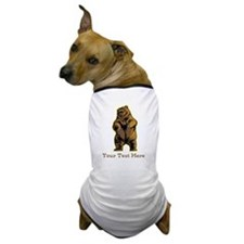 Bear. Custom Text. Dog T-Shirt