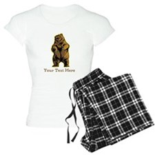 Bear. Custom Text. Pajamas