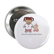 """World's Best Big Sister"" (pink) Button"