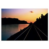 Sunset Railroad Tracks