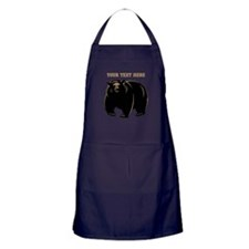 Big Bear with Custom Text. Apron (dark)