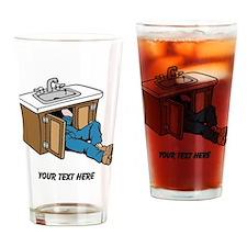 Plumber. Custom Text. Drinking Glass