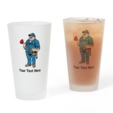 Plumber. Your Text. Drinking Glass