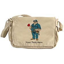 Plumber. Your Text. Messenger Bag