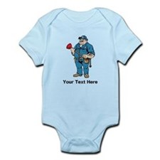 Plumber. Your Text. Infant Bodysuit