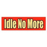 Idle No More Car Sticker