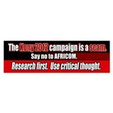 Anti Kony 2012 AFRICOM scam Bumper Car Sticker