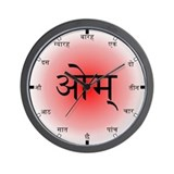 Hindi Sanskrit Wall Clock