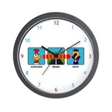 Why Did The Chicken? Wall Clock