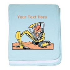 Digger and Text. baby blanket