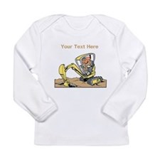 Digger and Text. Long Sleeve Infant T-Shirt