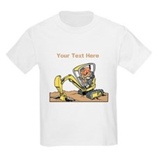 Digger and Text. T-Shirt