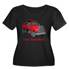Big Red Truck with Text. T