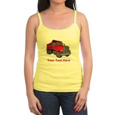 Big Red Truck with Text. Jr.Spaghetti Strap