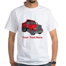 Big Red Truck with Text. Shirt