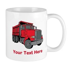 Big Red Truck with Text. Small Mug