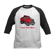 Big Red Truck with Text. Tee