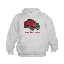 Big Red Truck with Text. Hoody