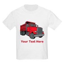 Big Red Truck with Text. T-Shirt