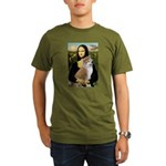 Mona / Akita (br&w) Organic Men's T-Shirt (dark)